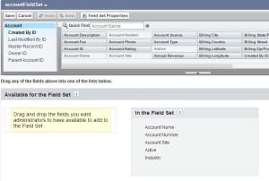 Create account field set