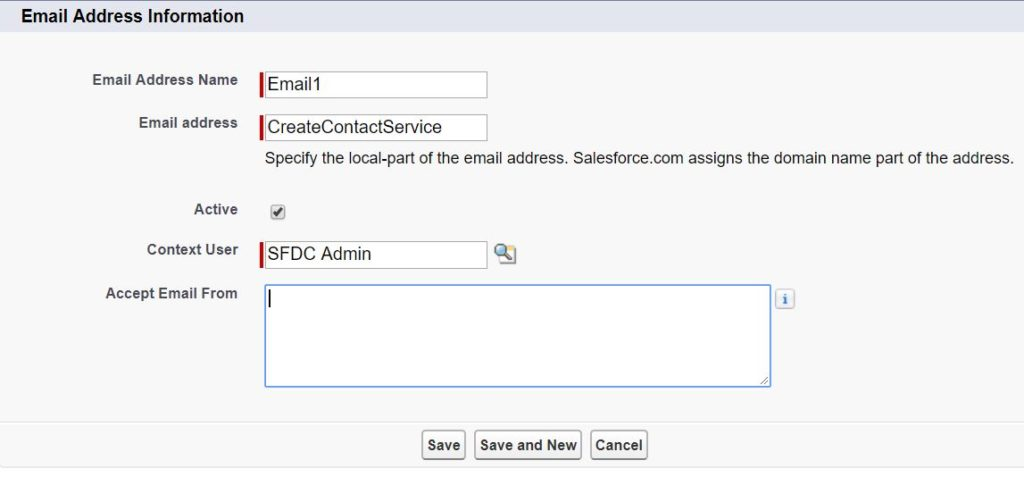 salesforce email service email address