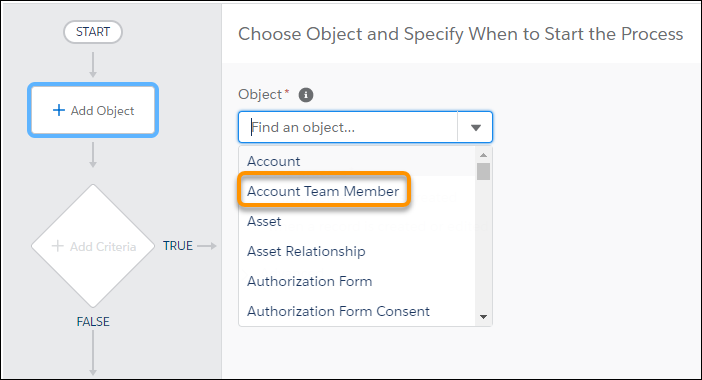 Account Team Member Salesforce Process Builder