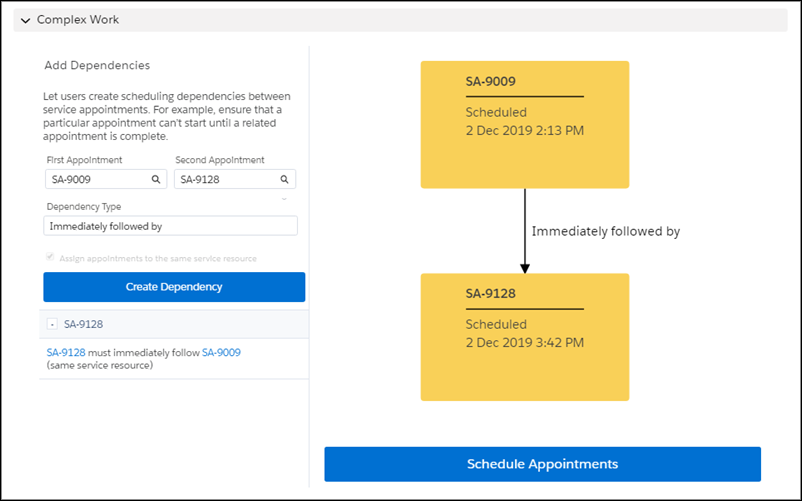 Appointment follow up Spring Salesforce