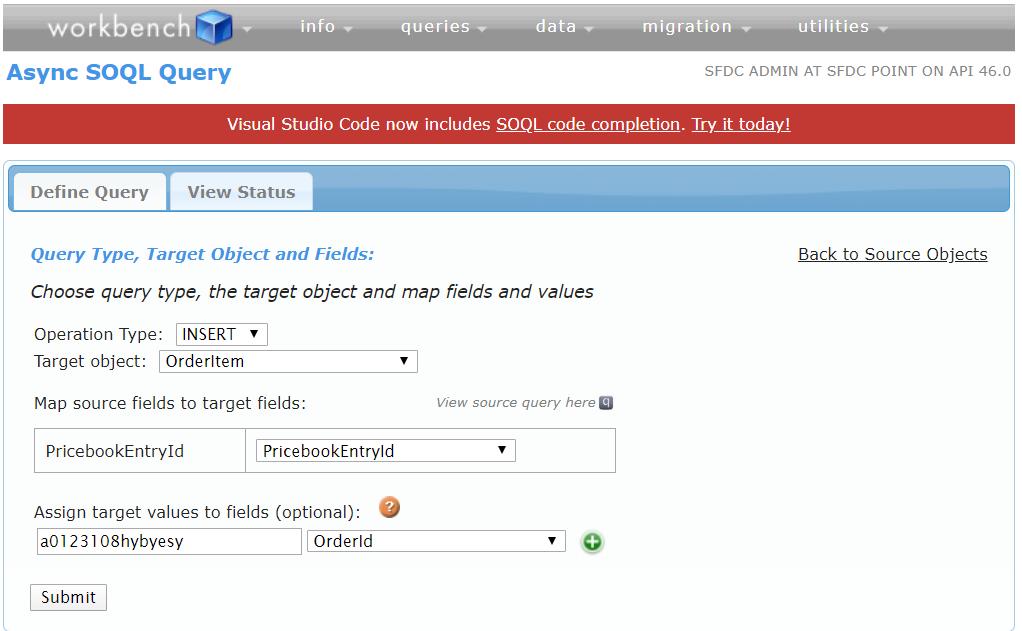 Async SOQL Target Workbench