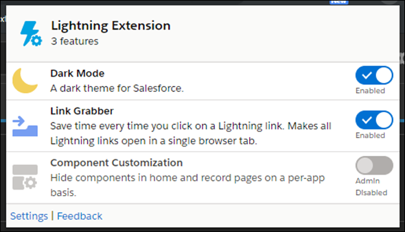 Salesforce Spring 20 Lightning Chrome Extensions