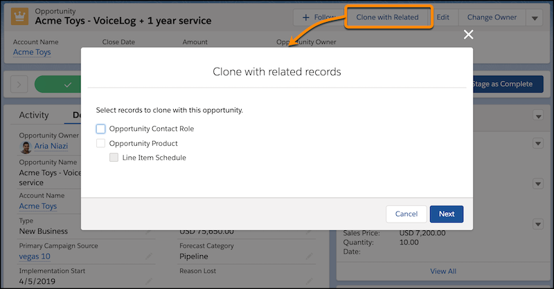 Salesforce Spring 20 Clone with Related Records