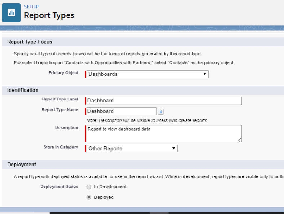 run out of Dynamic Dashboard Report Type 2