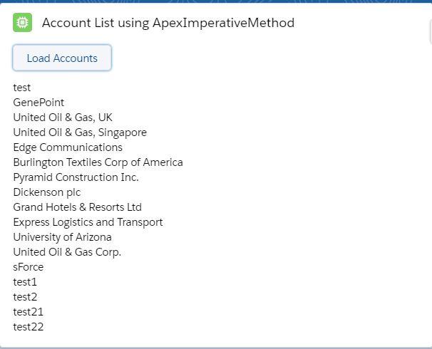 Call Apex Methods In LWC Imperative Method