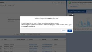 Modal:Popup Lightning Web Component(LWC)
