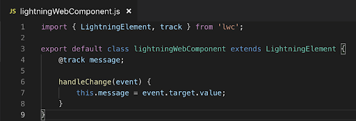 Lightning Web Components(LWC) JS File
