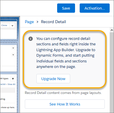 Dynamic forms upgrade now properties Salesforce Winter 21