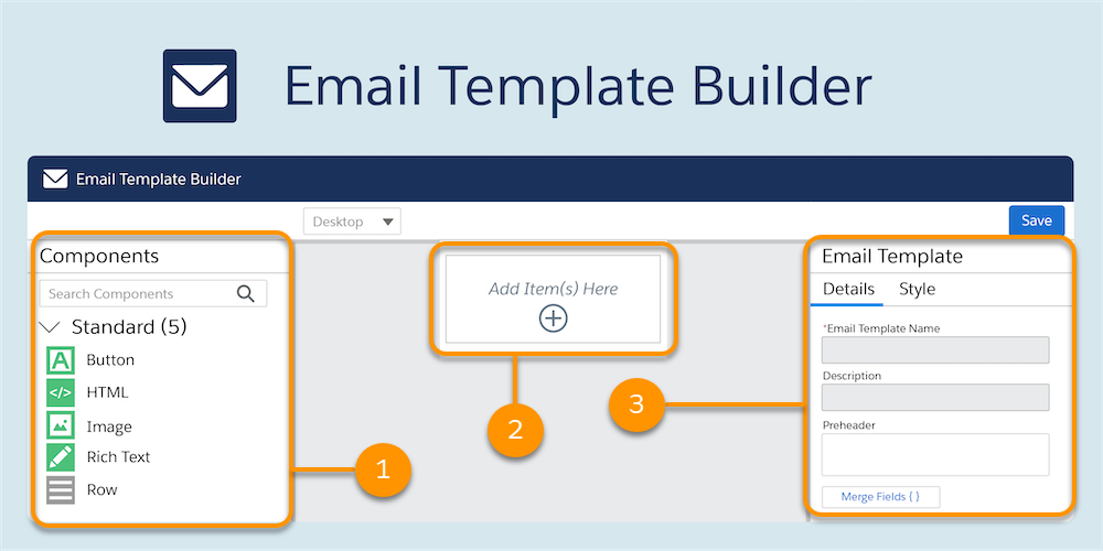 Email Template Builder annotated Salesforce Winter 21