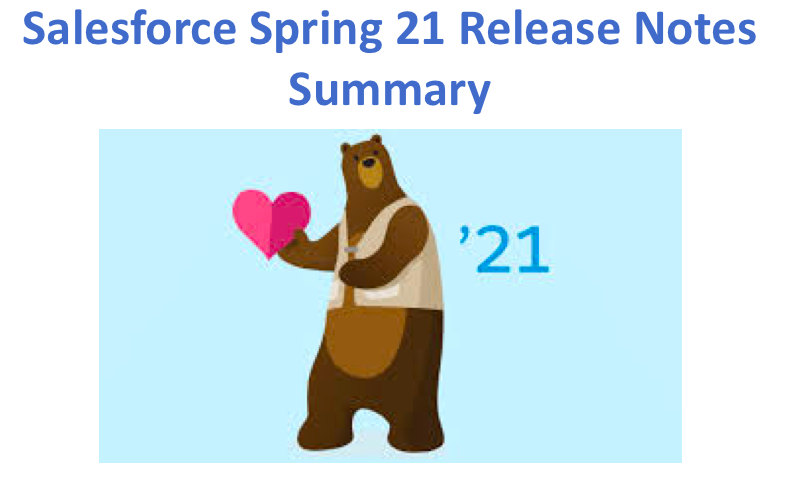 Salesforce Spring 21 Release Notes Summary
